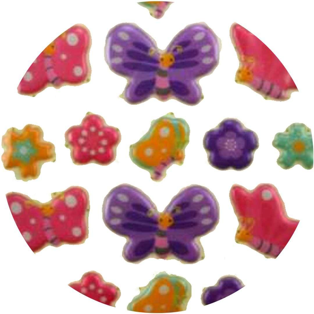 "Naklejki ""Wypukłe - motylki"", Aprex"