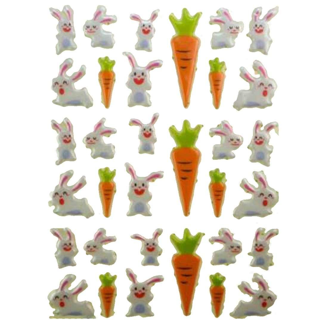 Naklejki Wypukłe - króliki i marchewki Aprex