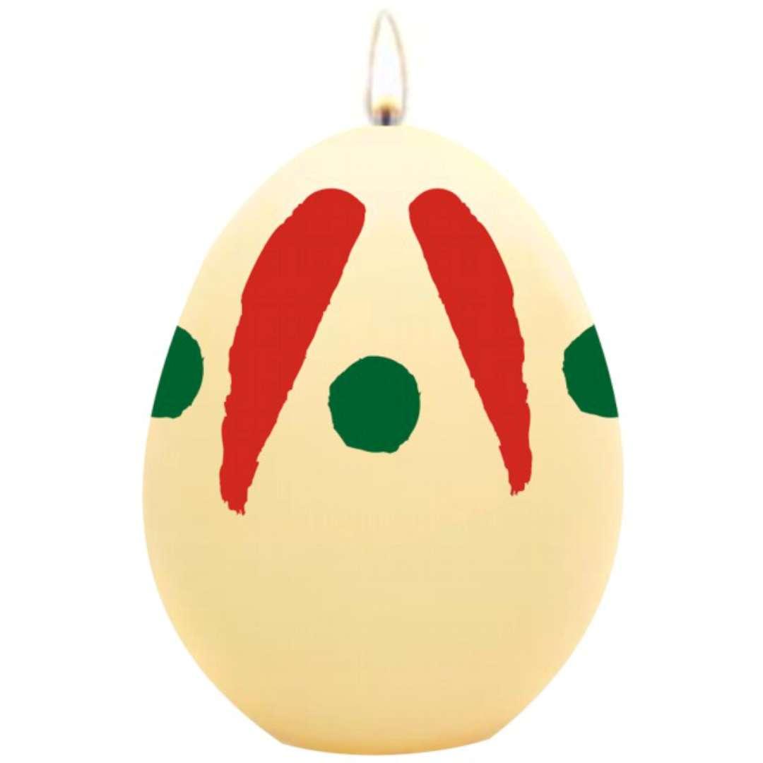 """Świeca """"Wielkanocne jajko w plamki"""", ecru, Arpex, 6cm"""