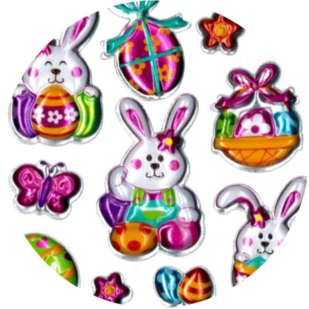 """Naklejki """"Wielkanocne pisanki i zajączki"""", Brewis"""