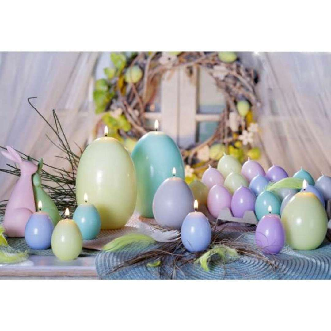 Świeca Wielkanoc - pastelowe jajko tiffany Bartek-Candles 60 mm 4 szt.