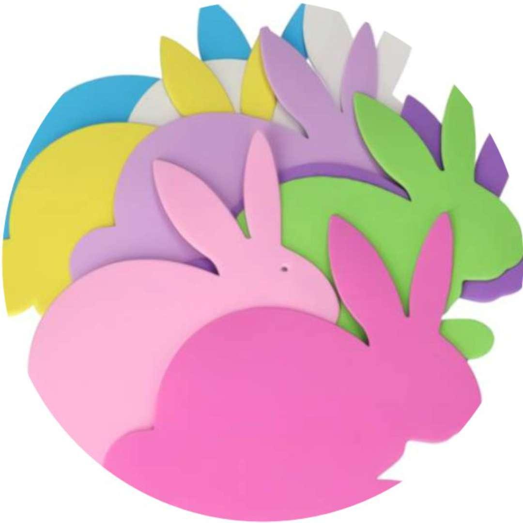Dekoracja Wielkanocne zajączki XL piankowa Brewis 8 szt