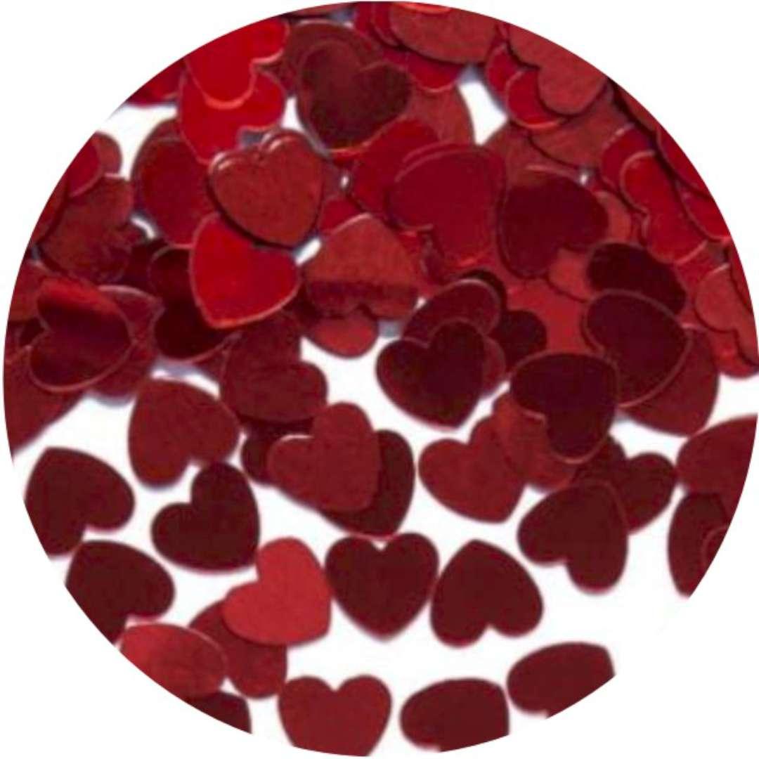 """Konfetti """"Serca czerwone"""", Godan, 10 mm, 1 opak."""