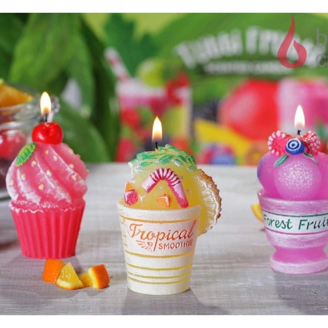 Świeca Tutti Frutti - Wiśniowa Bartek-Candles 80 mm