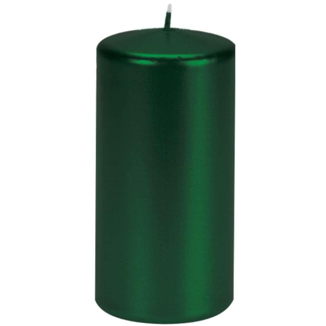 Świeca Pieńkowa metalik zielona ciemna 120 mm Ravi