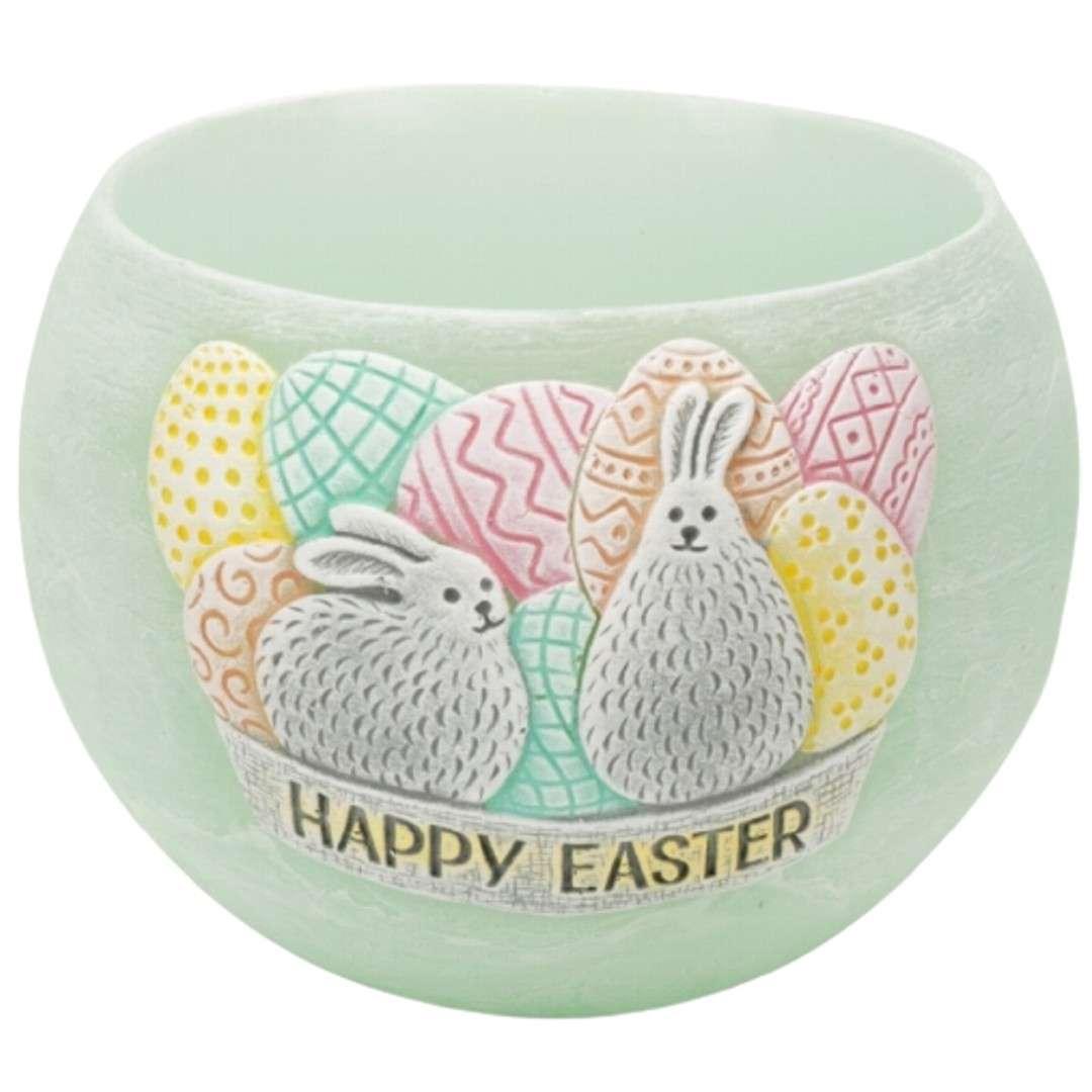 "Lampion ""Wielkanocna kula Happy Easter"", tiffany, Bartek-Candles, 120 mm"