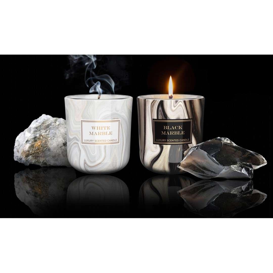 Świeca zapachowa w szkle Marble czarna Bartek-Candles