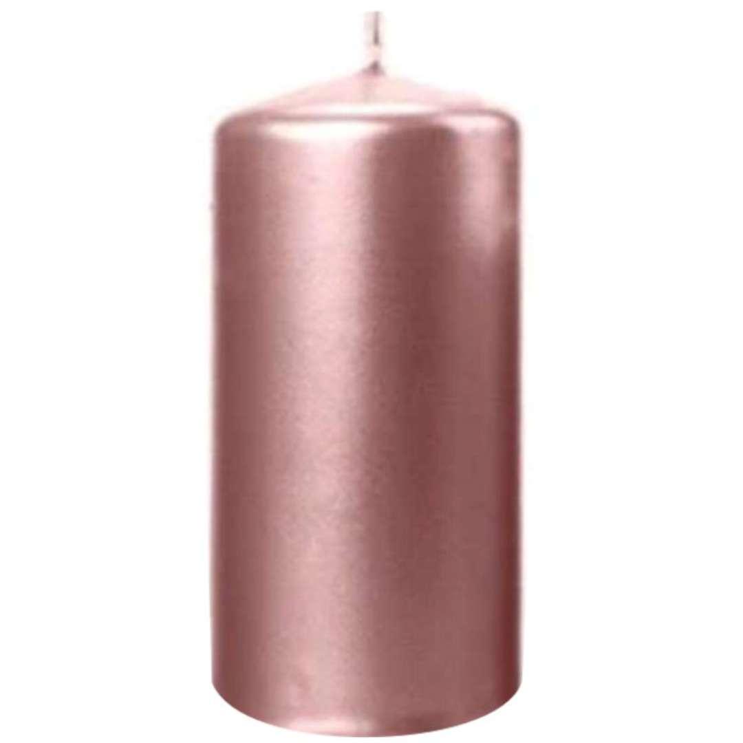 Świeca Pieńkowa metalik różowe złoto 120 mm Ravi