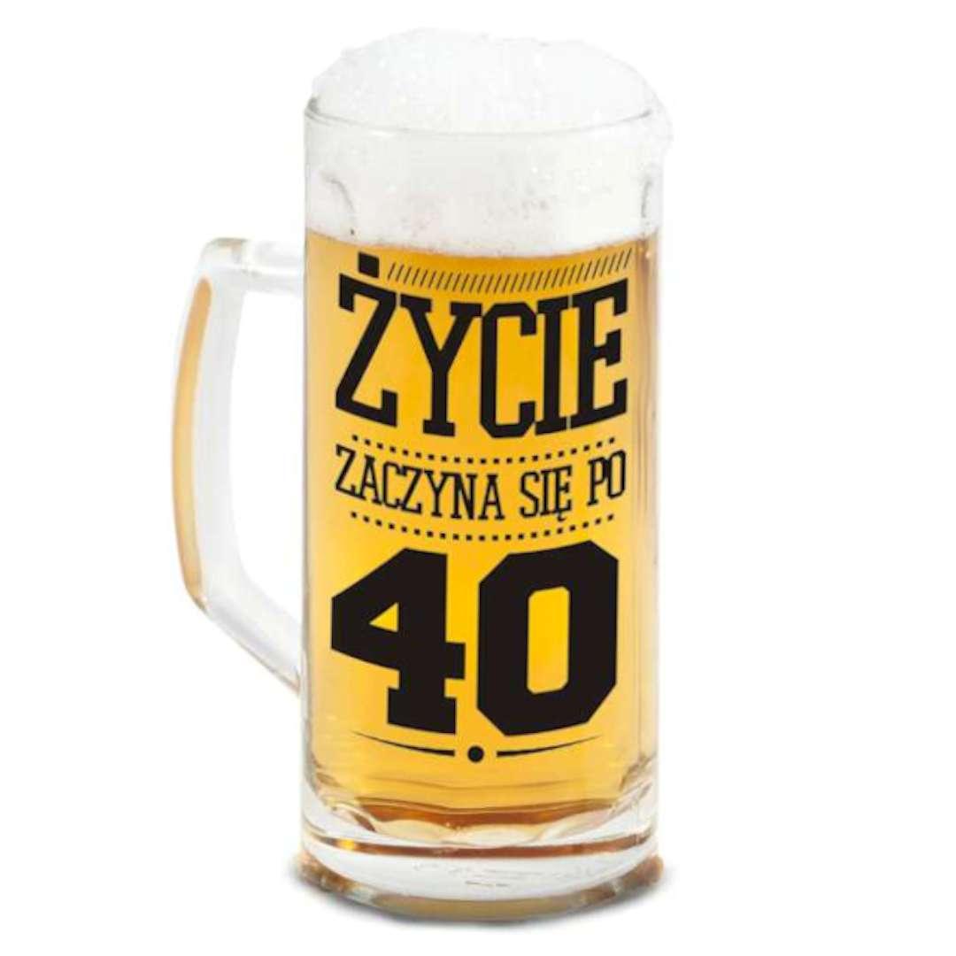 """Kufel """"Berna - Życie zaczyna się po 40"""", BGTech, 500 ml"""