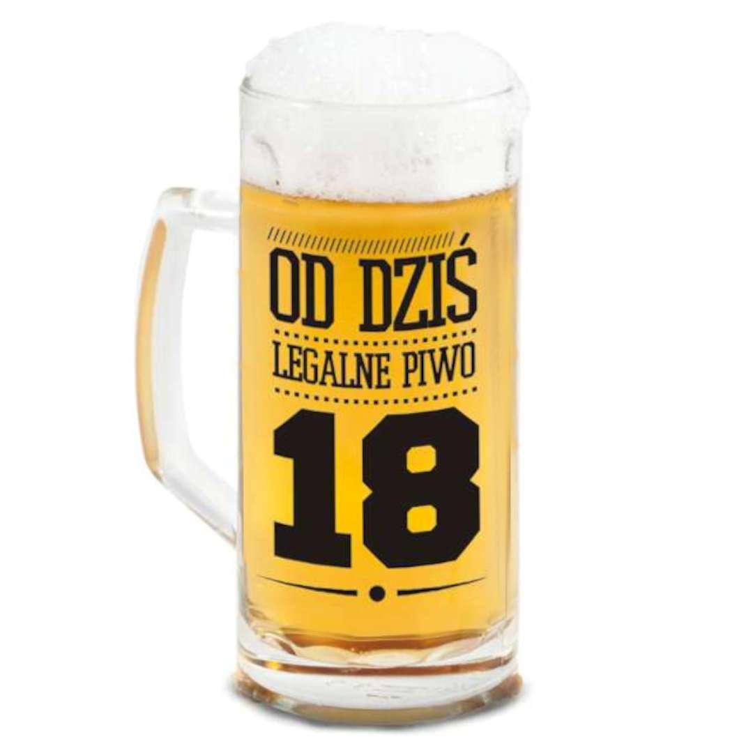 """Kufel """"Berna - Od dziś legalne piwo 18"""", BGTech, 500 ml"""