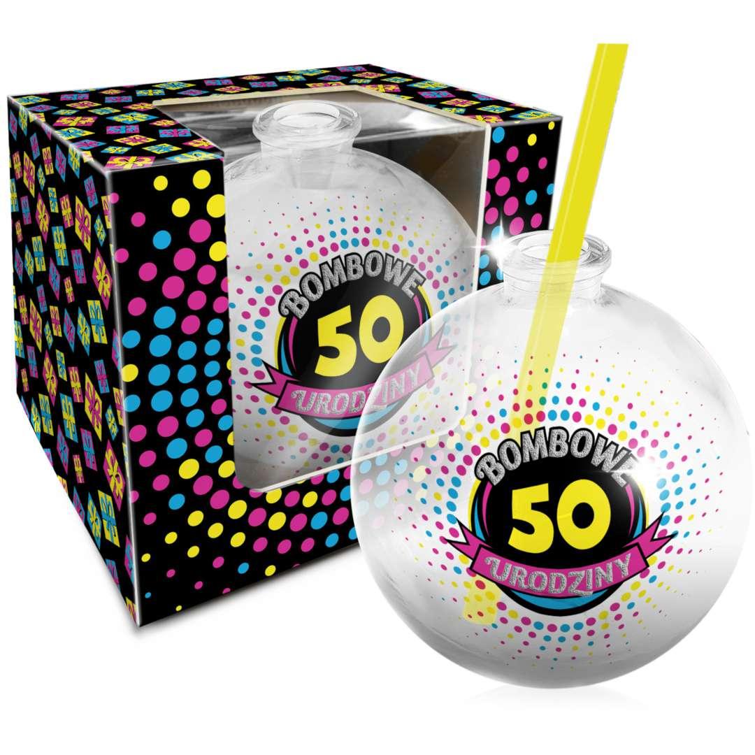 """Szklanka """"Bombka - 50 Urodziny"""", BGtech, 400 ml"""