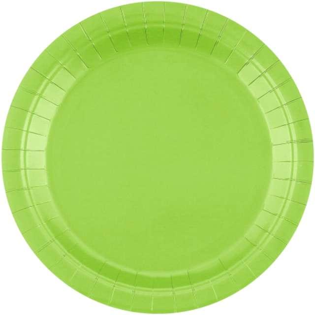 """Talerzyki papierowe """"Classic"""", zielone, Godan, 23 cm, 14 szt"""