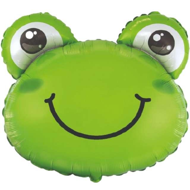 """Balon foliowy """"Żabka"""", zielony, Flexmetal, 24"""" SHP"""