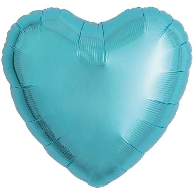 Balon foliowy Serce wypukłe jasnoniebieski Ibrex 14 5 szt. HRT