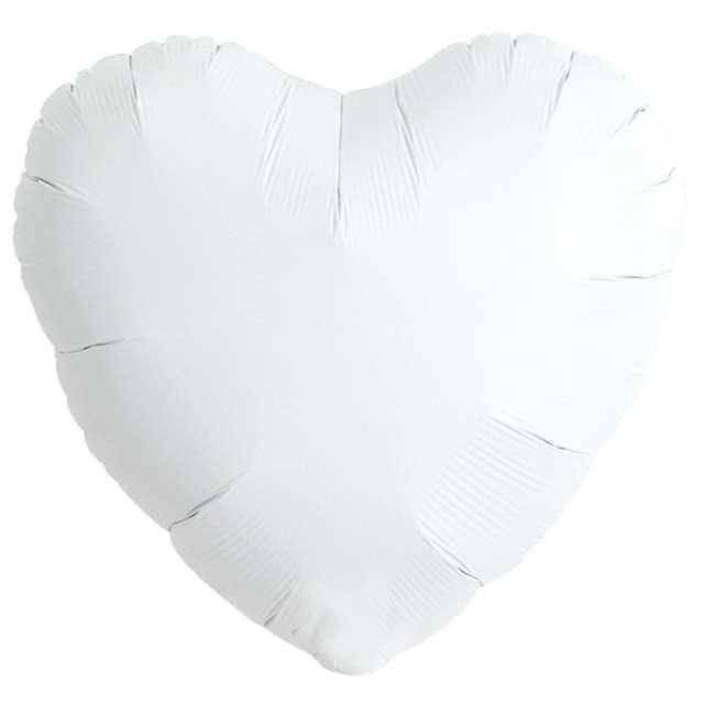 Balon foliowy Serce wypukłe biały Ibrex 14 5 szt. HRT