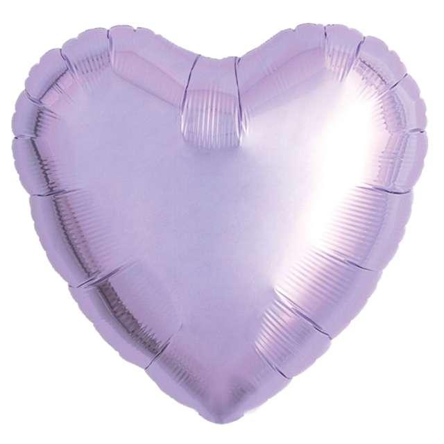 Balon foliowy Serce wypukłe lawendowy Ibrex 18 5 szt. HRT