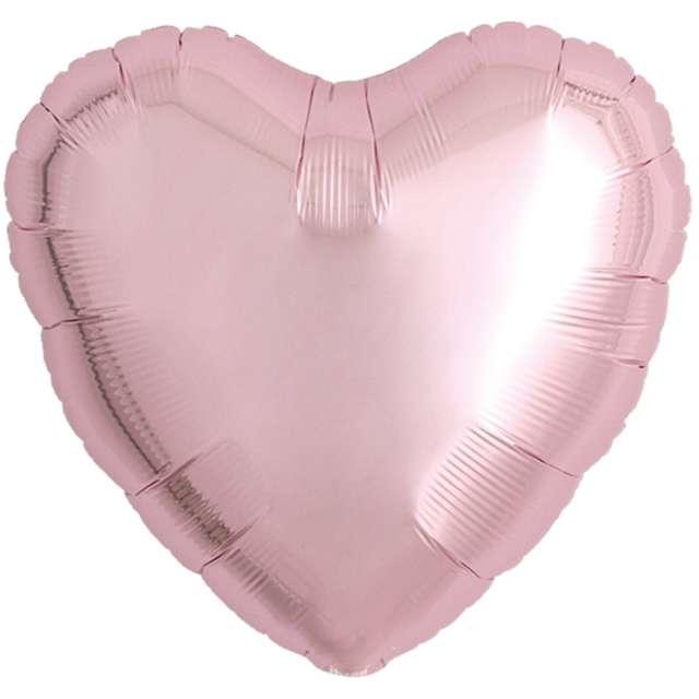 Balon foliowy Serce wypukłe jasnoróżowy Ibrex 18 5 szt. HRT