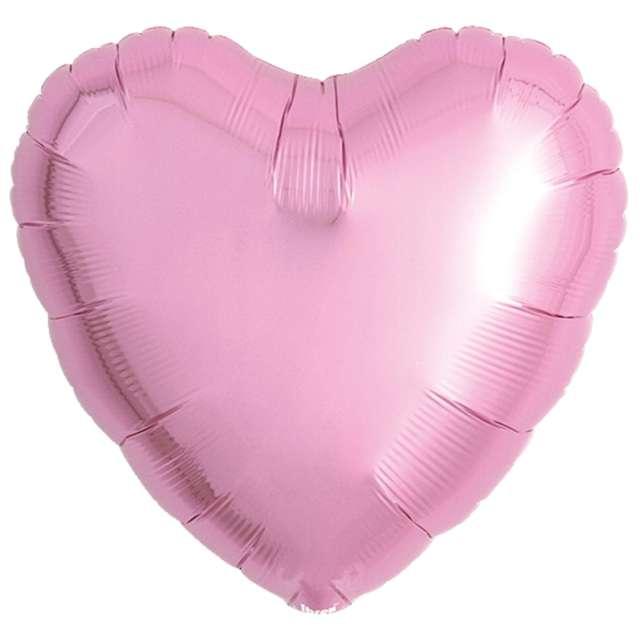 Balon foliowy Serce wypukłe różowy Ibrex 18 5 szt. HRT