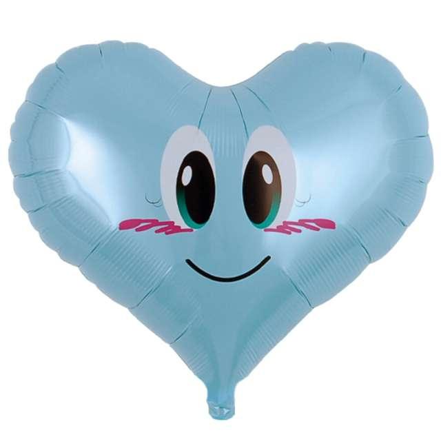 """Balon foliowy """"Serce aniołek"""", niebieski, Ibrex, 14"""", HRT"""