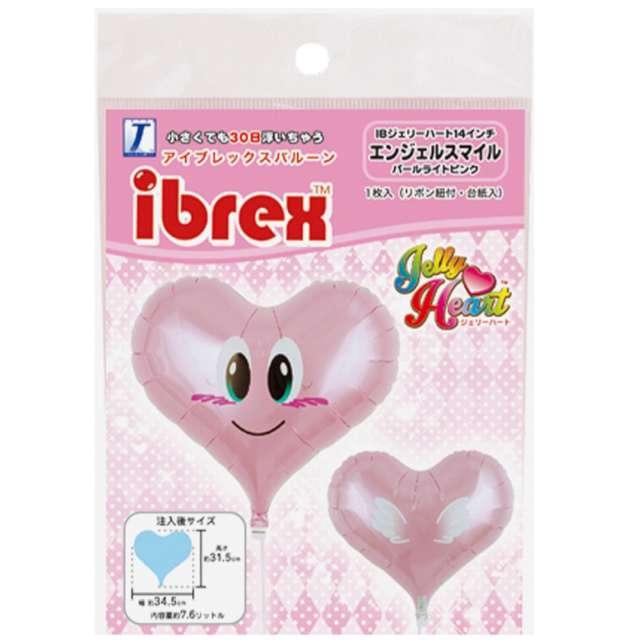 Balon foliowy Serce aniołek różowy Ibrex 14 HRT