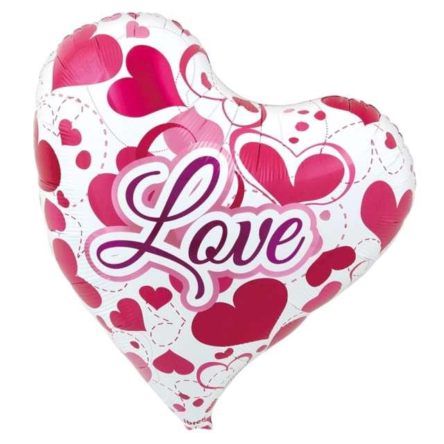 "Balon foliowy ""Serce w serca"", Ibrex, 14"", HRT"