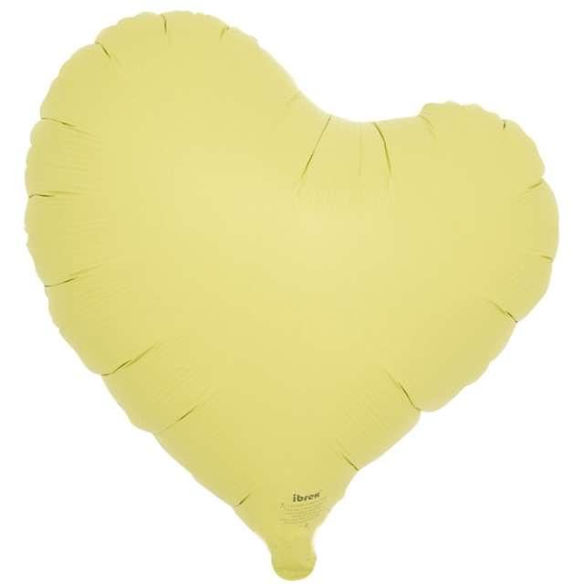 Balon foliowy Serce fikuśne żółty Ibrex 14 5 szt. HRT