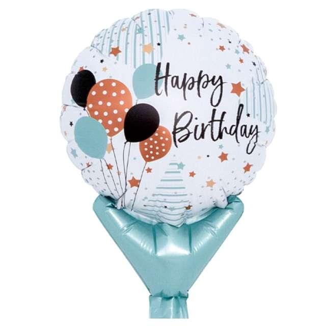"""Balon foliowy """"Urodziny - baloniki"""", Ibrex, 5"""", 10 szt., SHP"""
