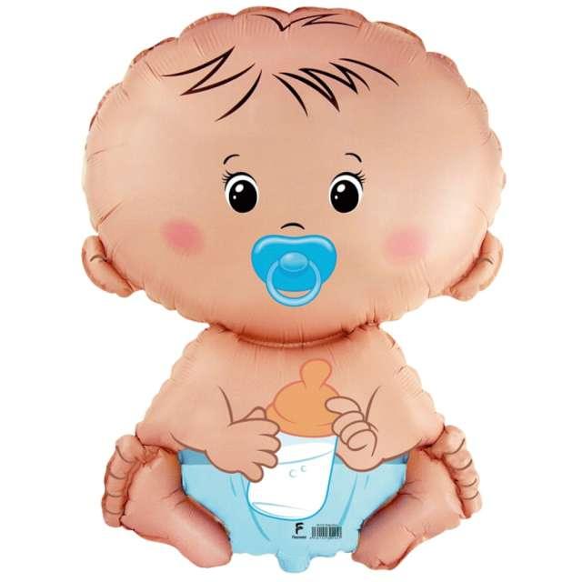 yy_Balon foliowy Bobas chłopiec Flexmeal 26 SHP
