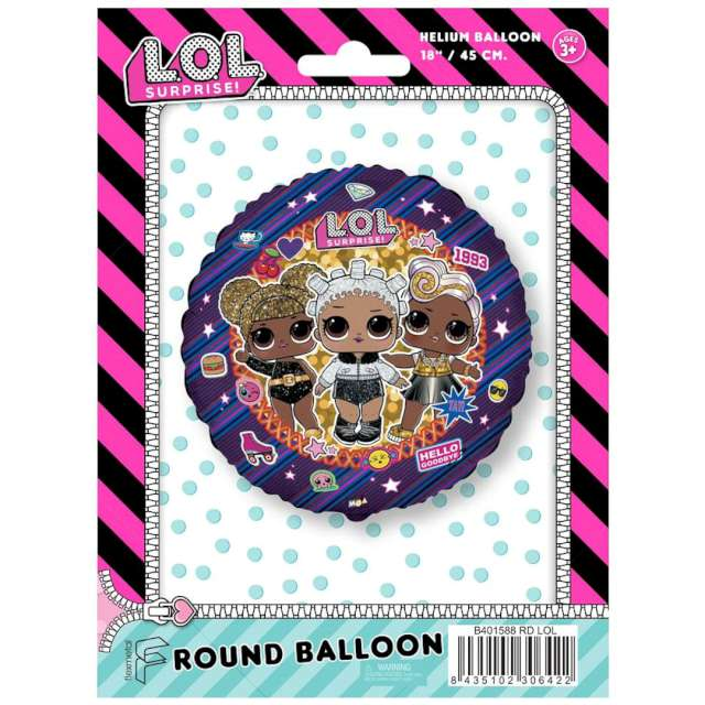 Balon foliowy LOL Surprise: 1993 Flexmetal 18 RND