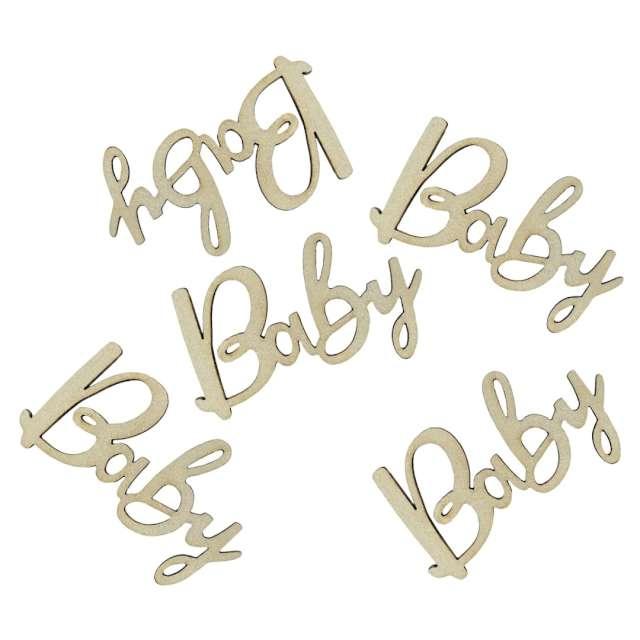 Drewniane konfetti Baby Godan 18 szt