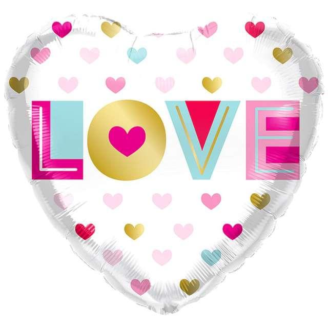 Balon foliowy Kolorowe love Qualatex 18 HRT