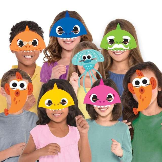 Maski papierowe Baby Shark Amscan 8 szt