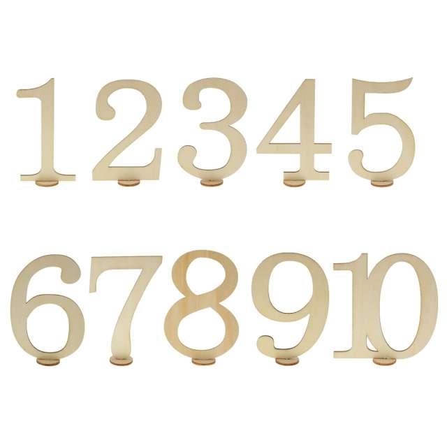 """Dekoracja """"Numery na stół"""", Godan, 11 cm, 10 szt"""