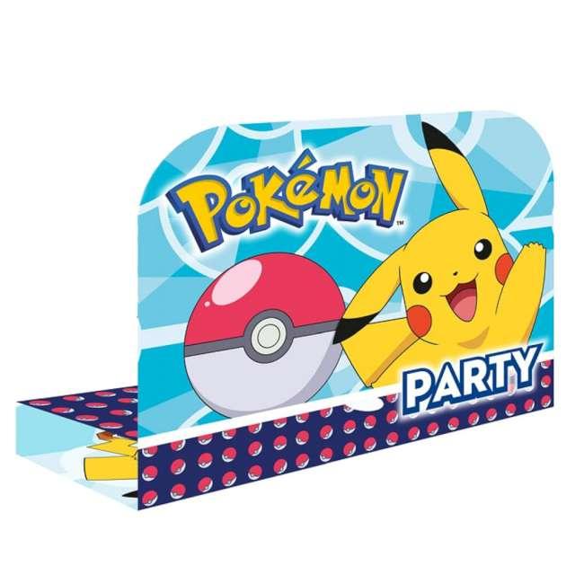 """Zaproszenia urodzinowe """"Pokemony"""", Amscan, 8 szt"""