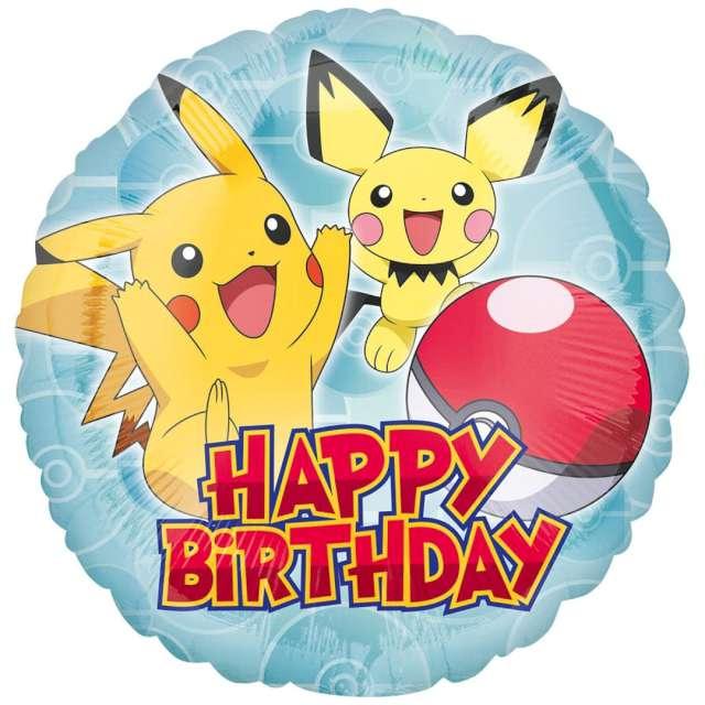 Balon foliowy Pikachu - Pokemon Amscan 18 RND