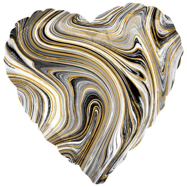 Balon foliowy Serce Marmurek brąz Amscan 17 HRT