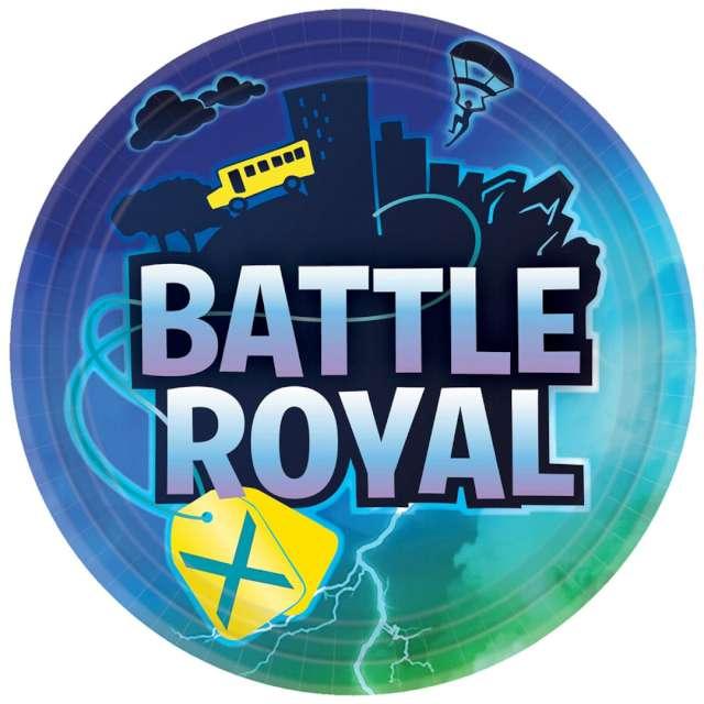 """Talerzyki papierowe """"Battle Royale"""", Amscan, 23 cm, 8 szt"""