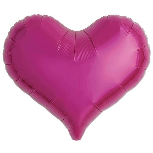 Balon foliowy Serce wklęsłe fuksja Ibrex 18 5 szt. HRT