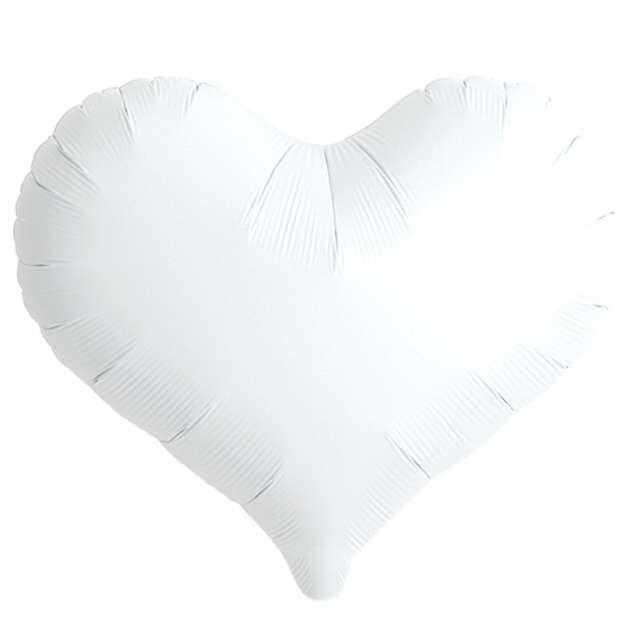 Balon foliowy Serce wklęsłe biały Ibrex 18 5 szt. HRT