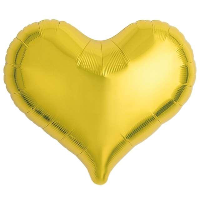 Balon foliowy Serce wklęsłe złoty Ibrex 18 5 szt. HRT