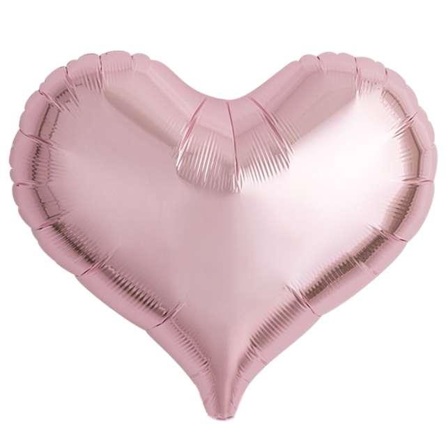 Balon foliowy Serce wklęsłe jasnoróżowy Ibrex 18 5 szt. HRT