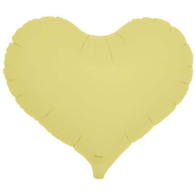 Balon foliowy Serce wklęsłe żółty Ibrex 14 5 szt. HRT