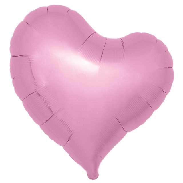 Balon foliowy Serce fikuśne różowy Ibrex 18 5 szt. HRT