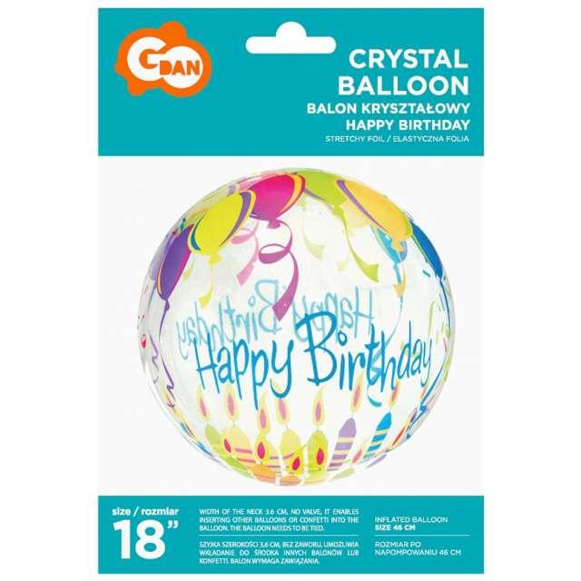 Balon foliowy Crystal - urodziny Godan 18 ORB