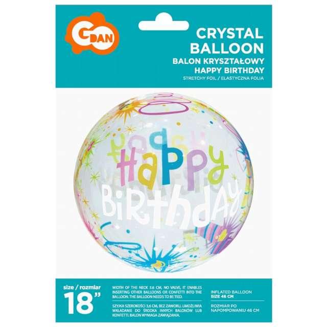 Balon foliowy Crystal - urodzinowy Godan 18 ORB