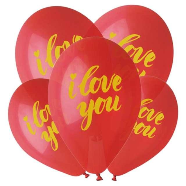 "Balony Premium ""I love You"", Gemar, 13"", 5 szt."