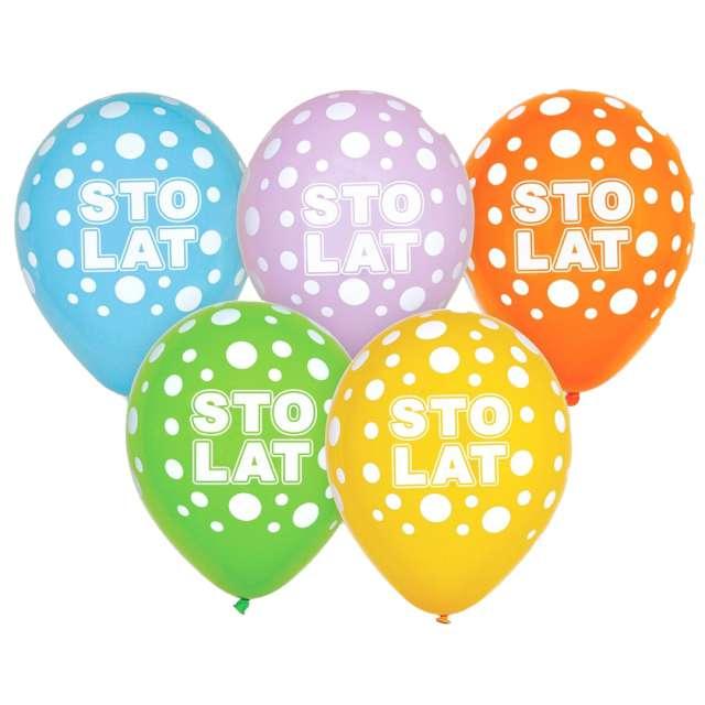 """Balony """"Sto lat"""", mix, Godan, 12"""", 5 szt."""