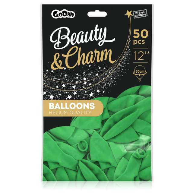 Balony Beauty and Charm - pastelowe zielone Godan 12 50 szt.
