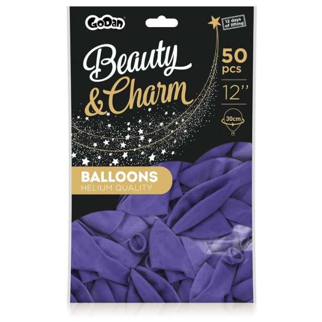 Balony Beauty and Charm - pastelowe fioletowy Godan 12 50 szt.