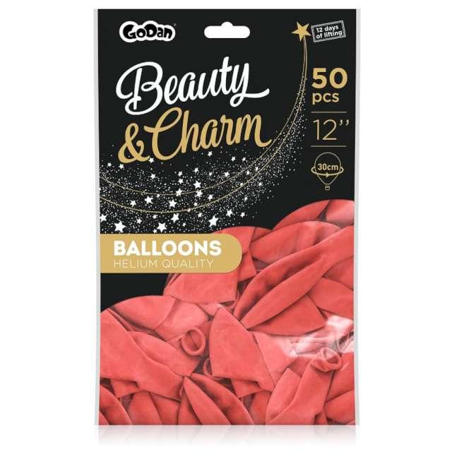 Balony Beauty and Charm - pastelowe koralowy Godan 12 50 szt.